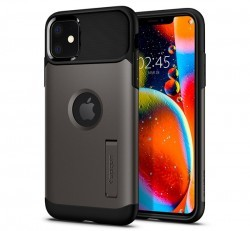 Spigen Slim Armor Apple iPhone 11 Gunmetal tok, szürke