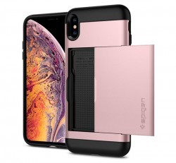 Spigen Slim Armor CS Apple iPhone Xs Max Rose Gold tok, rozéarany
