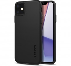 Spigen Thin Fit Air Apple iPhone 11 Black tok, fekete
