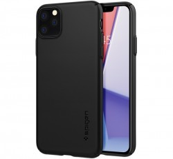 Spigen Thin Fit Air Apple iPhone 11 Pro Max Black tok, fekete