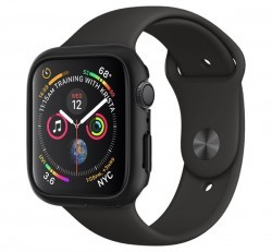 Spigen Thin Fit Apple Watch S4/S5 44mm Fekete tok, szíj nélkül