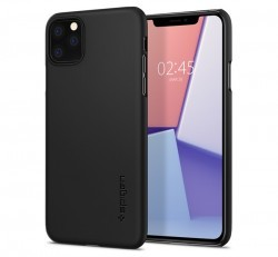 Spigen Thin Fit Apple iPhone 11 Pro Max Black tok, fekete