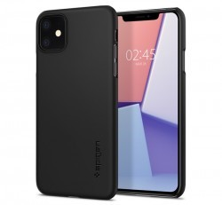 Spigen Thin Fit Apple iPhone 11 Black tok, fekete