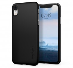 Spigen Thin Fit Apple iPhone XR Black tok, fekete