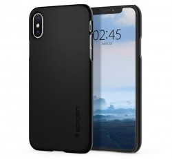 Spigen Thin Fit Apple iPhone Xs Black tok, fekete