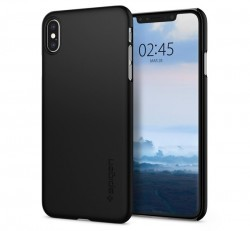 Spigen Thin Fit Apple iPhone Xs Max Black tok, fekete