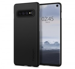 Spigen Thin Fit Samsung Galaxy S10 Black tok, fekete