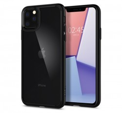 Spigen Ultra Hybrid Apple iPhone 11 Pro Max Matte Black tok, fekete