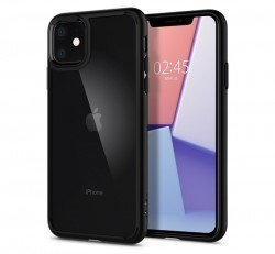 Spigen Ultra Hybrid Apple iPhone 11 Matte Black tok, fekete