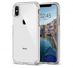 Spigen Ultra Hybrid Apple iPhone Xs Crystal Clear tok, átlátszó