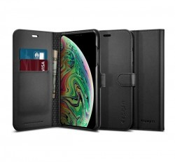 Spigen SGP Wallet S Apple iPhone Xs Max Black flip tok