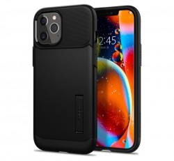 Spigen Slim Armor Apple iPhone 12 Pro Max Black tok, fekete