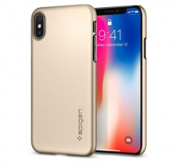 Spigen Thin Fit Apple iPhone X Champagne Gold tok, arany