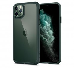 Spigen Ultra Hybrid Apple iPhone 11 Pro Midnight Green tok, zöld