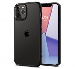 Spigen Ultra Hybrid Apple iPhone 12/12 Pro Matte Black tok, fekete