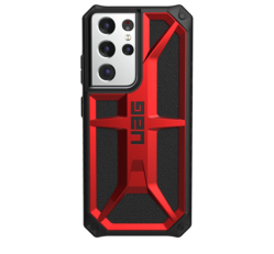 UAG Monarch Samsung Galaxy S21 Ultra hátlap tok, Crimson