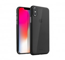 Uniq Hybrid Bodycon Matte Apple iPhone Xs/X, szilikon tok, fekete