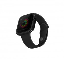 Uniq Valencia Apple Watch 44mm aluminium tok, fekete