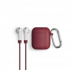 Uniq Vencer Apple Airpods tok + nyakbaakasztó, barna