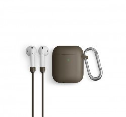 Uniq Vencer Apple Airpods tok + nyakbaakasztó, bézs