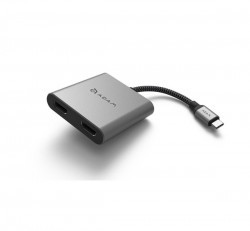 Adam Elements H2 Type-C HDMI adapter, szürke