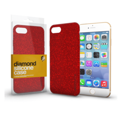 Xprotector Diamond szilikon hátlap tok, Apple iPhone 7 Plus / 8 Plus, piros
