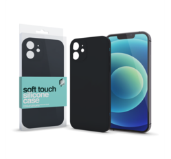 Xprotector Soft Touch Slim szilikon tok Apple iPhone 12, fekete