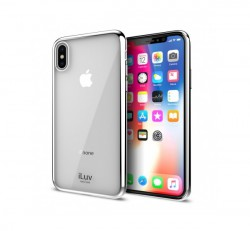 iLuv Metal Care Apple iPhone X/XS hátlaptok, ezüst