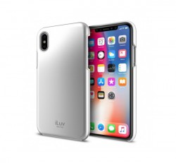 iLuv Metal Forge Apple iPhone X/XS hátlaptok, ezüst